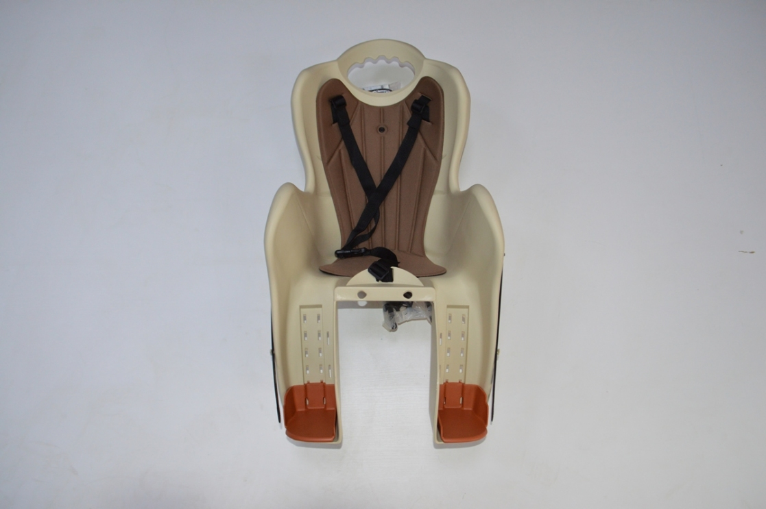 Велокресло детское на раму, крепеж за подседельную трубу, модель Elibas T, Цвет: бежевый, код 92070524